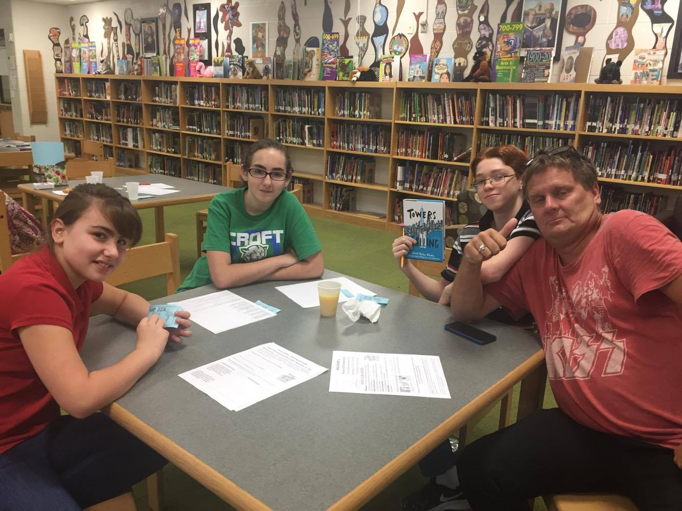 I had a great time at Croft MS this past week attending their monthly  ProjectLit book club. The book was Towers Falling and it was fascinating to  talk about ...